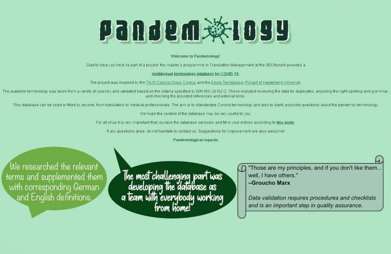 Pandemology: Corona-Terminologie als virtuelles Projekt